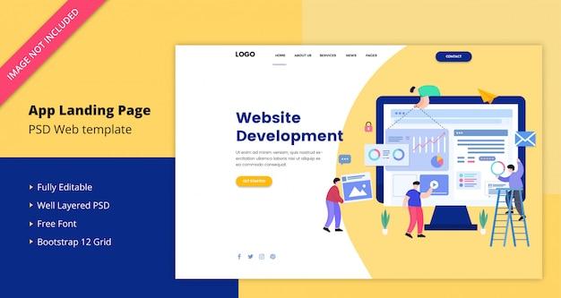 Website development landing page