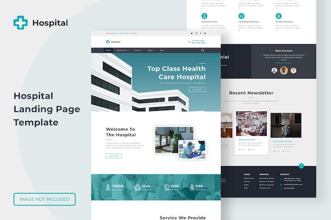 Website-vorlage für die zielseite des krankenhauses