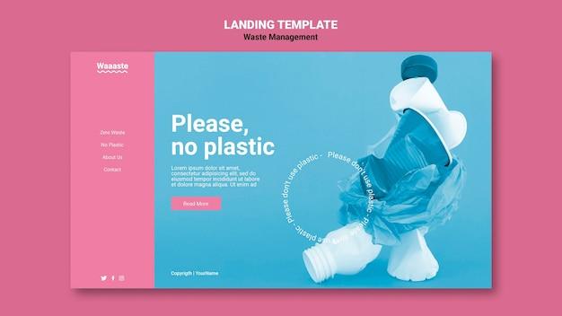 Webvorlage für abfallmanagement