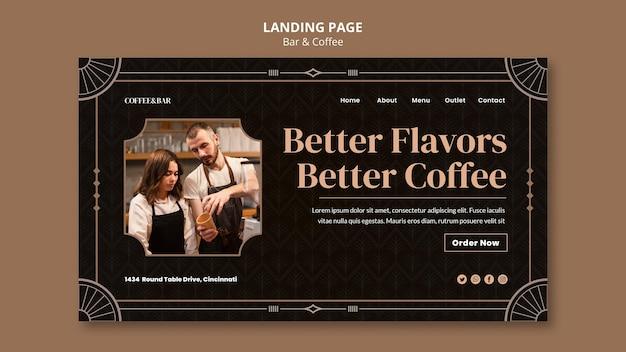 Webvorlage für bar und kaffee