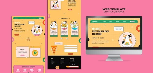 Webvorlage für den kryptowährungsaustausch