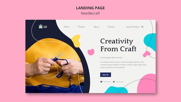 Webvorlage für die needlecraft-landingpage