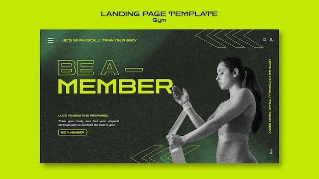 Webvorlage für fitnesstraining