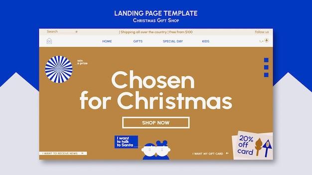Webvorlage für geschenkladen in blau und gold
