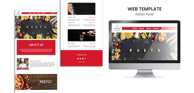 Webvorlage für italienische küche