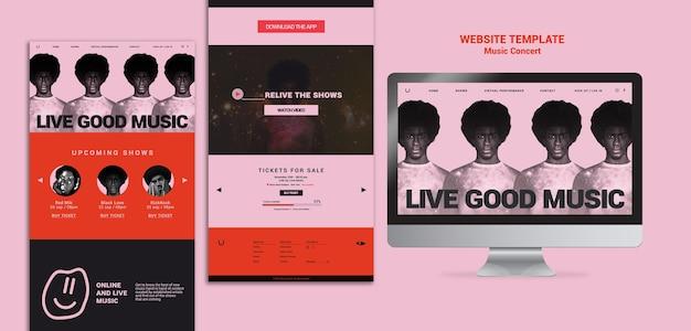 Webvorlage für musikkonzerte