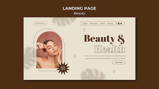 Webvorlage für natürliche schönheit