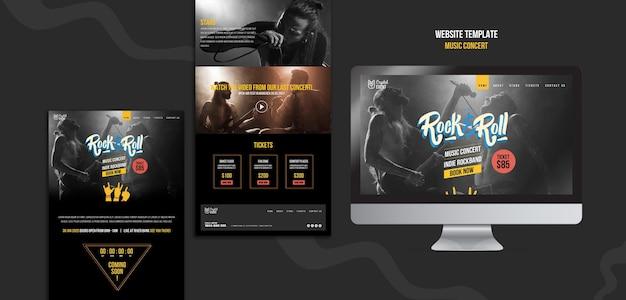 Webvorlage für rockmusikkonzerte
