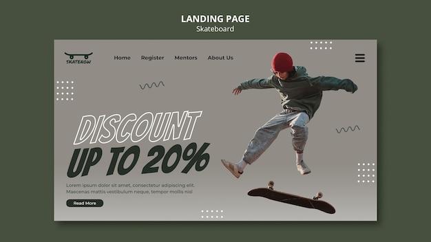 Webvorlage für skateboard-lektionen Kostenlosen PSD