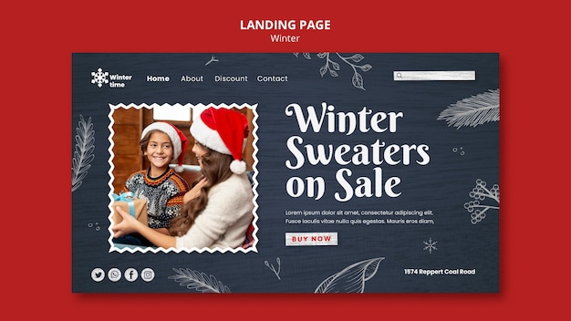 Webvorlage für wintergarderobe