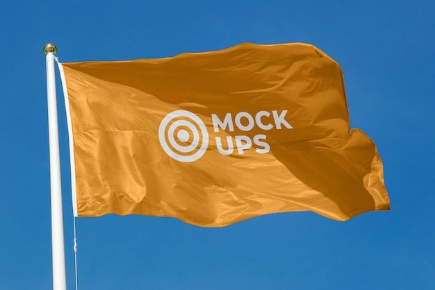 Wehende flagge mockup