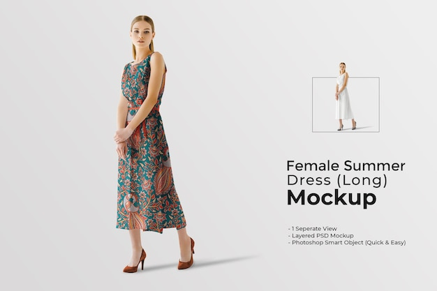 Weibliches sommerkleidmodell