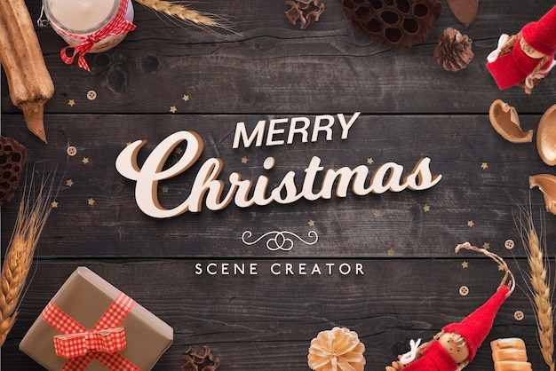 Weihnachten 3d gruß textszene schöpfer