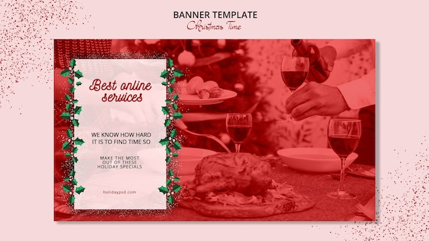 Weihnachten banner vorlage konzept