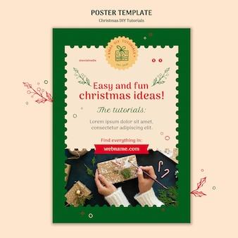 Weihnachten diy tutorial flyer vorlage