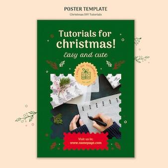 Weihnachten diy tutorial poster vorlage