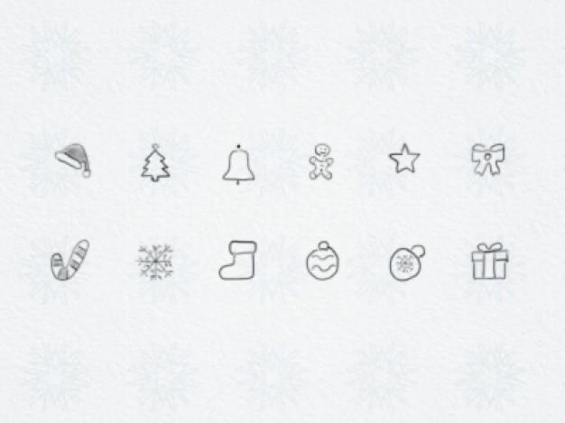 Weihnachten hand gezeichnete symbole