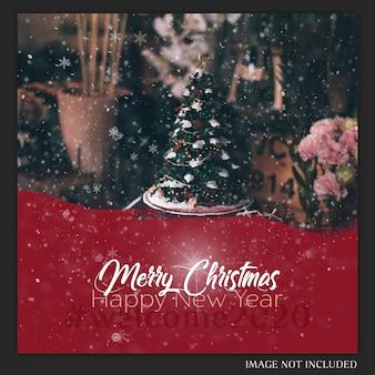Weihnachten instagram postkarte