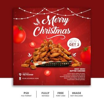 Weihnachten social media post banner vorlage