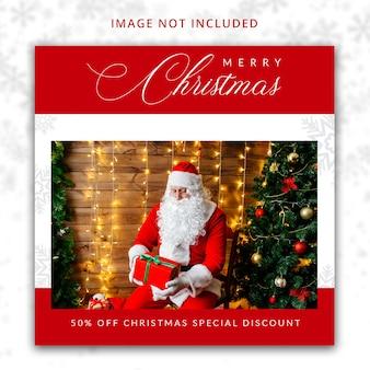 Weihnachten social media-vorlage