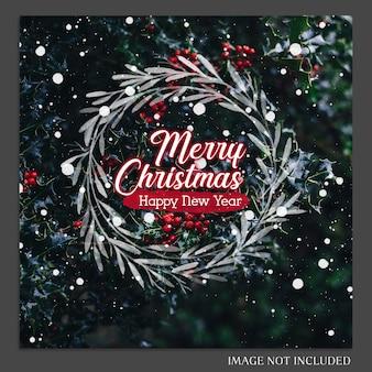 Weihnachten und ein glückliches neues jahr 2019 foto mockup und instagram post template für social medi