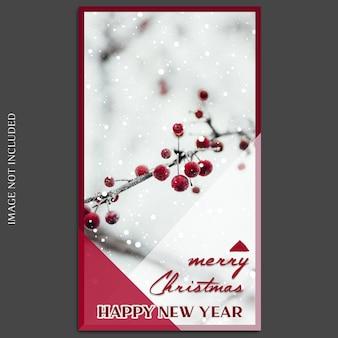 Weihnachten und ein glückliches neues jahr 2019 foto mockup und instagram story template