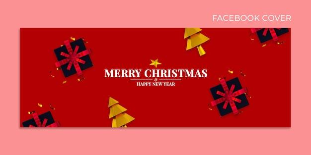 Weihnachten und guten rutsch ins neue jahr facebook-cover-vorlage