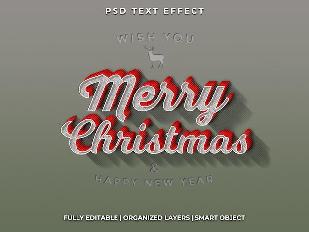 Weihnachten und guten rutsch ins neue jahr-texteffekt