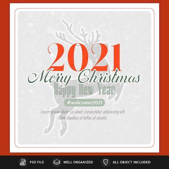 Weihnachts instagram postkarte oder banner vorlage Premium PSD