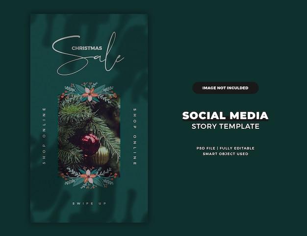Weihnachts instagram story karte oder banner vorlage