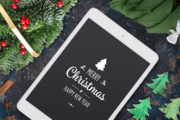 Weihnachts-mock-up