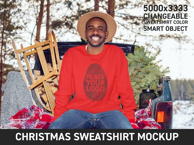 Weihnachts-sweatshirt mockup
