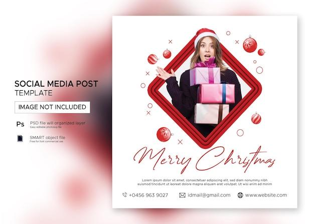 Weihnachtsbanner verkauf instagram post premium psd
