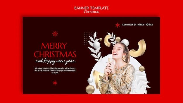 Weihnachtsbanner-vorlagendesign