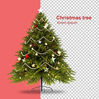 Weihnachtsbaum im 3d-rendering