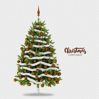 Weihnachtsbaum in 3d lokalisiert gerendert