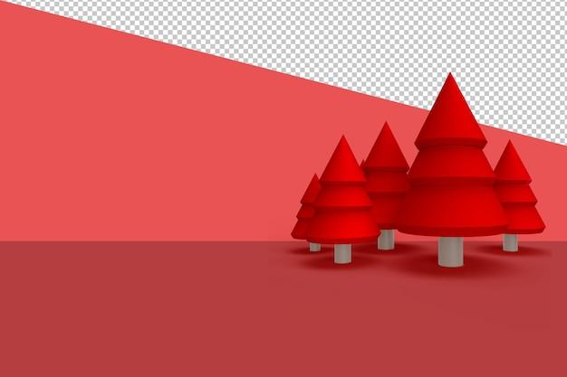 Weihnachtsbaum in 3d lokalisiert lokalisiert gerendert