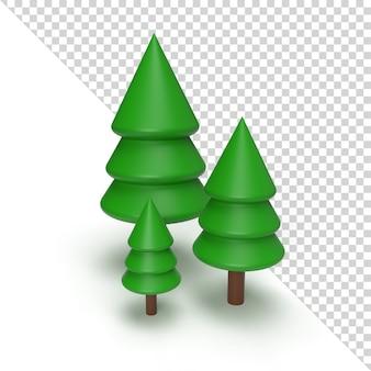 Weihnachtsbaum isoliert in 3d-rendering