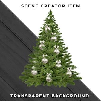 Weihnachtsbaum isoliert mit schnittpfad.