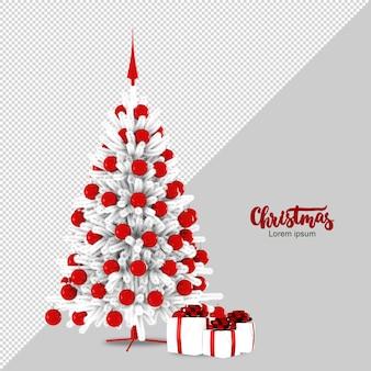Weihnachtsbaum und geschenke in 3d rendern