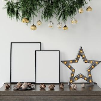 Weihnachtsdekoration auf dem tisch
