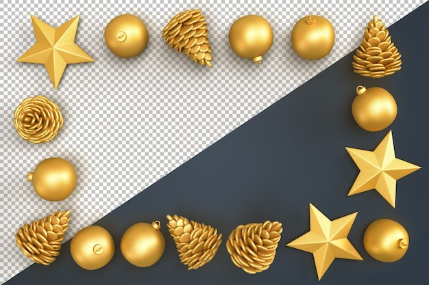 Weihnachtsdekorationselemente, die rechteckigen rahmen bilden