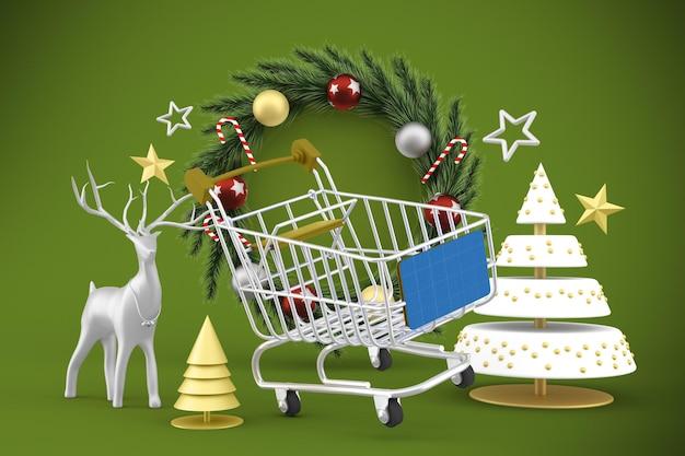 Weihnachtseinkaufsmodell