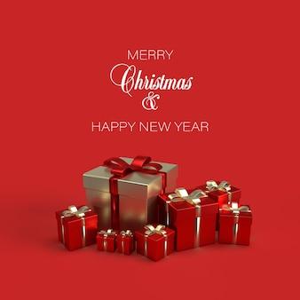 Weihnachtsfahne mit geschenken lokalisiert