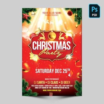 Weihnachtsfeier flyer