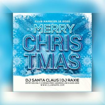 Weihnachtsfeier flyer Premium PSD