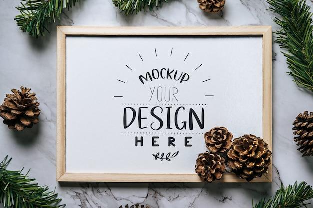 Weihnachtsfeiertagsgruß rahmendesign