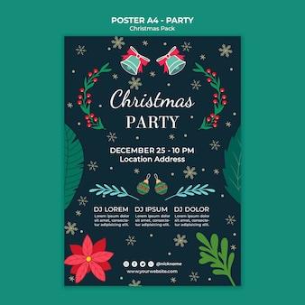 Weihnachtsferien party poster