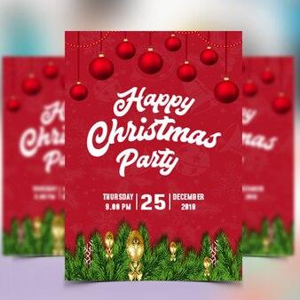 Weihnachtsfest-flyer