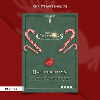 Weihnachtsfliegerschablone mit süßigkeiten und rotem ball